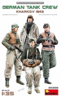 Немецкий танковый экипаж. Харьков, 1943 г.