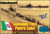 """Итальянская субмарина """"Giuseppe Finzi"""" / """"Pietro Calvi"""", 1936 г. Полный корпус."""
