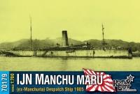 """Посыльное судно IJN """"Manchu Maru"""" (ex-Manchuria), 1905 г."""