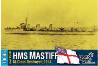 "Английский миноносец HMS ""Mastiff"" (M-Class), 1914 г."