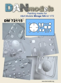 маска для модели самолета Мираж 4 (A&A )