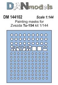 Маска для модели самолета Ту-154