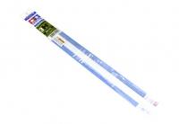 Профили пластиковые (5шт.) H - формы, стороны по 3 мм, толщина стенки 1мм, длина 40см.,полистирин