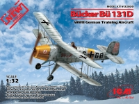 Германский учебный самолет Bucker Bu 131D, WWII