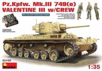 Танк Pz.Kpfw. 749(e) ВАЛЕНТАЙН Mk III с экипажем