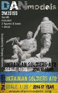 Украинский солдат. 2014-2017 Украина. АТО. Набор №6 - 2 фигуры (смола) + шеврон (декаль)