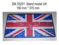 Подставка для модели (тема Великобритания - подложка фото флага на кирпичном фоне)