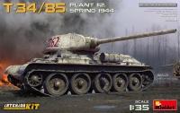 Советский танк Т-34/85 завода 112 с интерьером. Весна 1944 г.