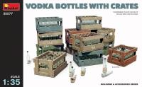 Водочные бутылки с ящиками