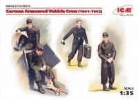 Немецкий экипаж бронеавтомобиля (1941-1942 гг.) (4 фигуры и кот)