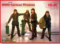 Немецкие пожарные WWII (4 фигуры)