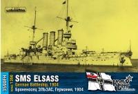 """Броненосец """"Эльзас"""", Германия, 1904 г. Полный корпус."""