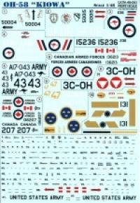Декаль Kiowa Helicopter Ч. 2