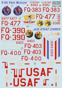 Декаль F-82 Twin Mustang