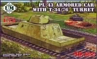 Бронеплатформа PL-43 с башней Т-34/76