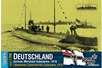 """Германская транспортная субмарина """"Deutschland"""", 1916 г. Полный корпус."""