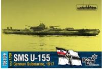 Германская субмарина U 155, 1917 г. Полный корпус.