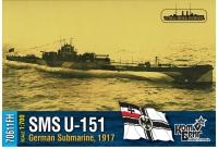 Германская субмарина U 151, 1917 г. Полный корпус.