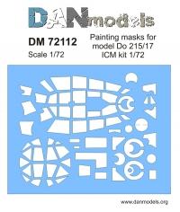 Маска для модели самолета Do 215/17