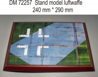 Подставка для модели (тема Люфтваффе WWII - подложка фото крыла самолёта, крест)