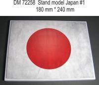 Подставка для модели (тема Япония - подложка фото флага). Вариант №1