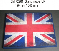 Подставка для модели (тема Великобритания - подложка фото флага)