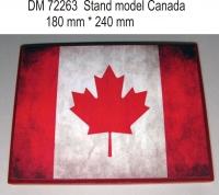 Подставка для модели (тема Канада - подложка фото флага)