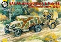 Советский грузовик модель АА с пушкой Flak-38. Финляндия, 1941 г.