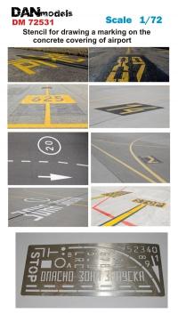 Трафарет для нанесения разметки на бетонке аэродрома