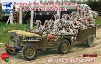 Автомобиль с британскими парашютистами