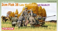 Немецкая зенитная пушка 2cm FlaK 38 Late Production mit Sd.Ah 51