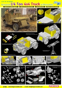Американский бронеавтомобиль Armored 1/4 Ton 4x4 Truck w/Bazooka