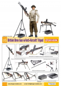 Английский пулемет на зенитной треноге (British Bren Gun with Anti-Aircraft Tripod)