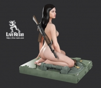 """Becca - 3D printed Color Girl Figure with AN-94 """"Abakan"""" assault rifle and armor hatch base"""