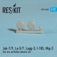 Як-7/9, Ла-5/7, Лагг -3, И-185, МиГ-3 Колеса для сухого покрытия