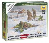 Советские пулемётчики в зимней форме
