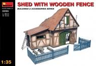 Склад с деревянным забором