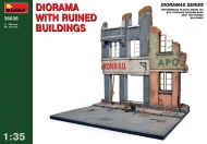 Диорама с разрушенными зданиями