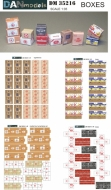 Коробки от сигарет, от гуманитарной помощи. Ящики от бананов