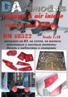 ФТД Су-27: заглушки на ВЗ, на сопла, на жалюзи, хвостовые и носовые антенны + декаль с номерами (ACADEMY)