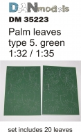 Пальмовые листья зелёные, набор 5