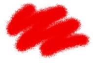 Краска акриловая красная (алая)