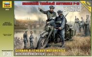 Немецкий мотоцикл Р-12 с водителем и офицером