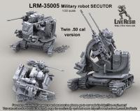 Секутор - военный робот, версия с двумя пулеметами 50 калибра Браунинг М2